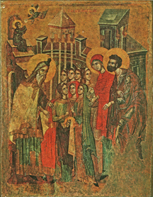 Image for Presentation of the Theotokos in the Temple - with angel (7.75 x 10)