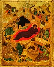 Image for Nativity of the Lord - Rublev (3 x 4)