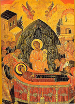 Image for Dormition of the Theotokos - Cretan 16th c.  (7.5 x 10)