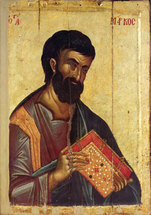Image for St. Mark the Evangelist - Hilandar 14th century (4.25 x 6)