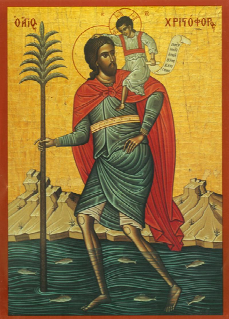 Image for St. Christopher - Red Robe (6 x 8)
