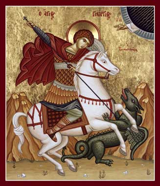 Image for St. George on  a Horse (8.5 x 9, glossy)