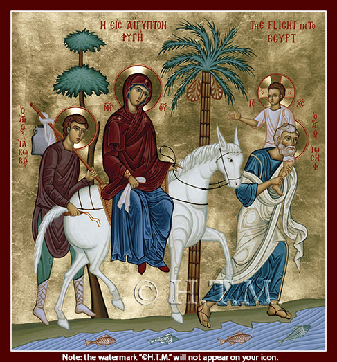 Image for Flight Into Egypt - (8.5 x 9, glossy)