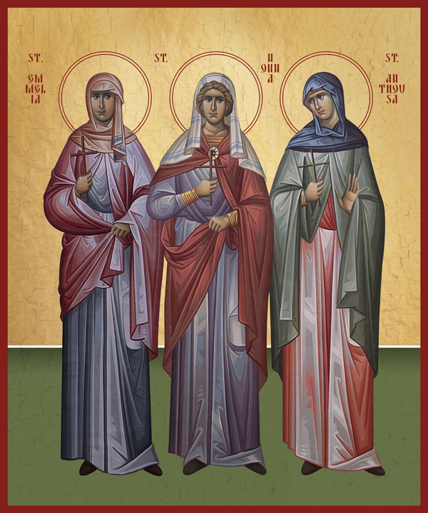 Image for St. Emmelia, St. Nonna, St. Anthousa - Holy Mothers of the Three Hierarchs (8 x 10)