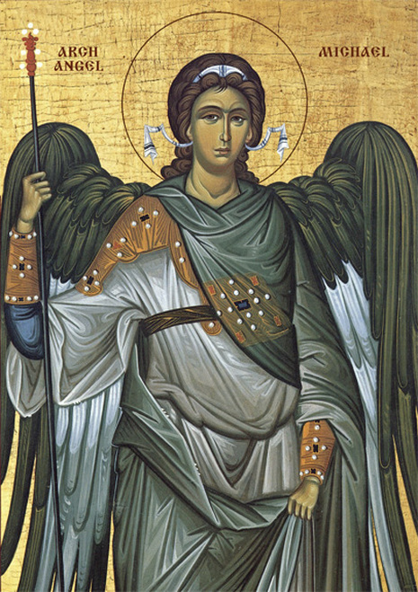 Image for Archangel Michael - Blue Robes (7 x 10)