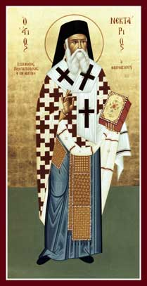 Image for St. Nektarios - Bishop of Pentapolis (glossy, 5 x 10)