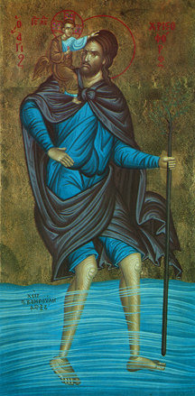 Image for St. Christopher - Blue Robe (5.5 x 11)