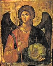 Image for Archangel Michael - Byzantine 14th c (5.5 x 7)