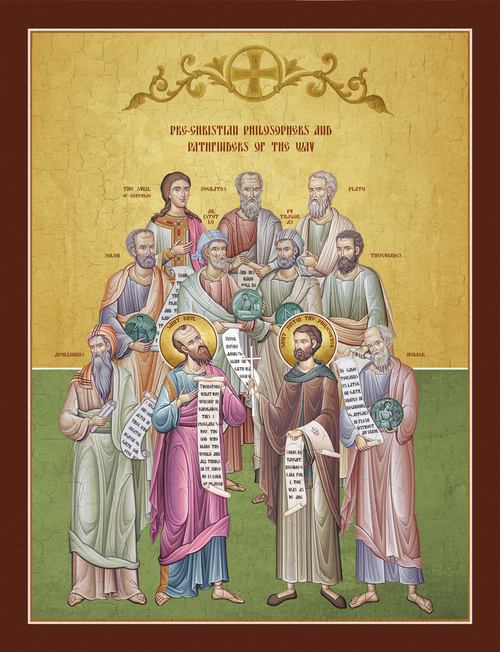 Image for Pre-Christian Philosophers & Pathfinders of the Way: Apollonios, Solon, Sybil, Socrates, Aristotle, Pythagoras, Plato, Thucydides, Homee, St. Justin & St. Paul (8 x 10)