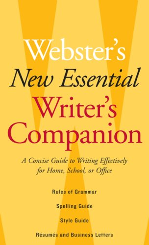 Image for Webster's New Essential Writer's Companion: A Concise Guide to Writing Effectively for Home, School, or Office