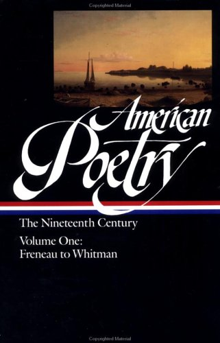 Image for American Poetry: The 19th Century: Volume 1: Freneau to Whitman (Library of America)
