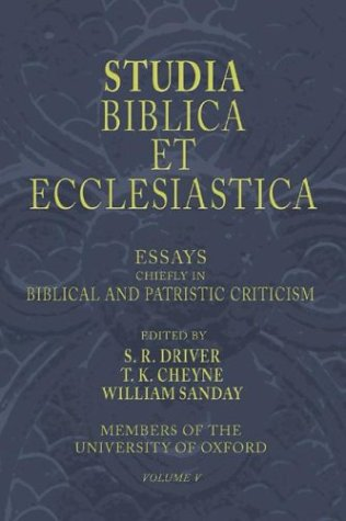 Image for Studia Biblica Et Ecclesiastica, 5 Volumes: Essays In Bible, Archaeology And Patristic Criticism