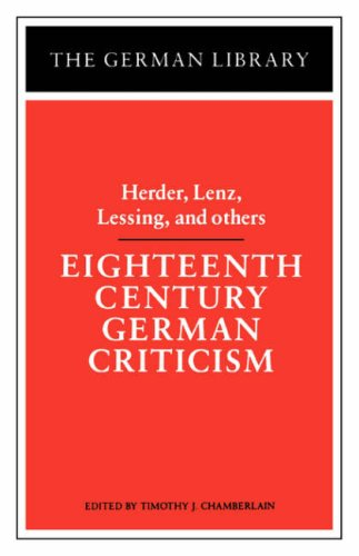 Image for Eighteenth Century German Criticism (German Library)